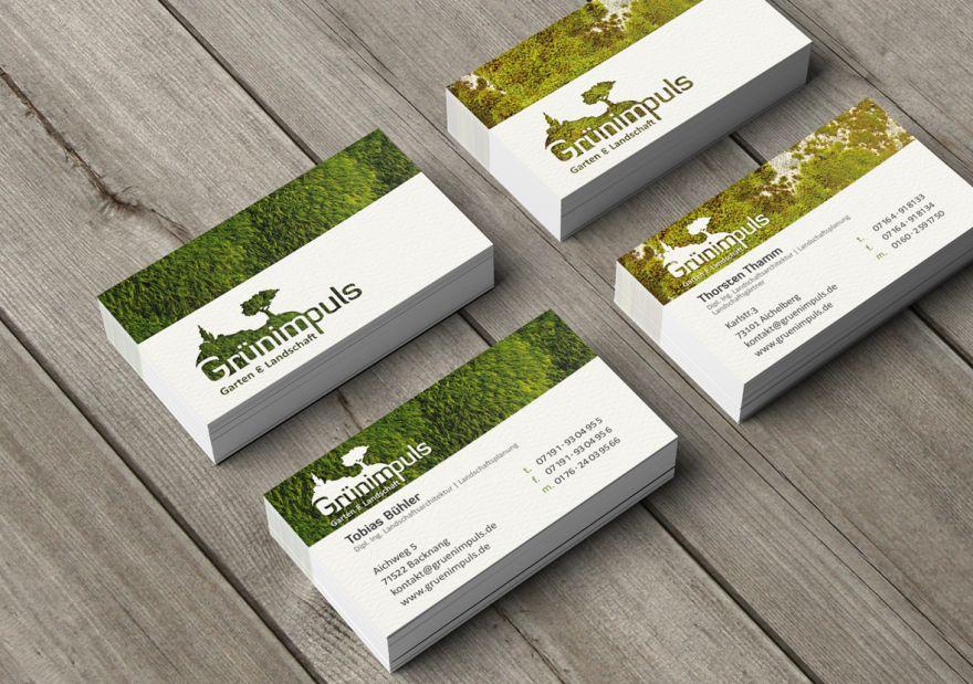 Garten und landschaftsbau visitenkarten  Grünimpuls - Garten & Landschaft | Werbeagentur & Social Media ...